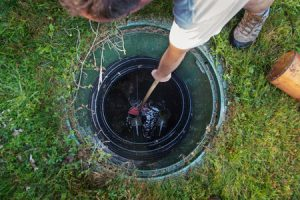 cleaning and unblocking septic system