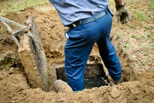 opening the septic tank
